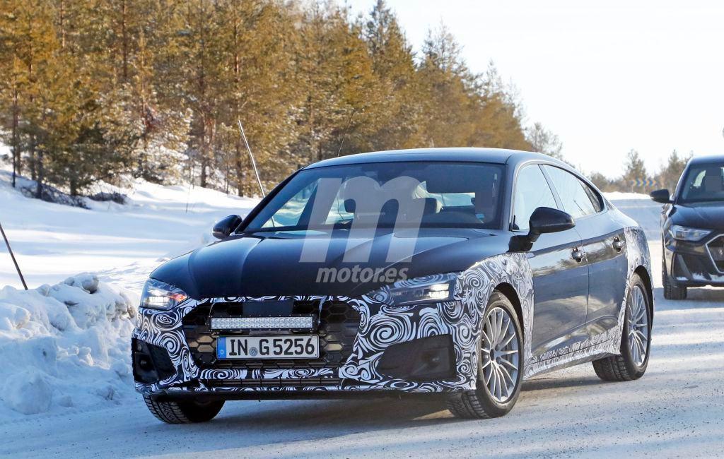 Primeras imágenes del Audi A5 Sportback facelift durante sus pruebas