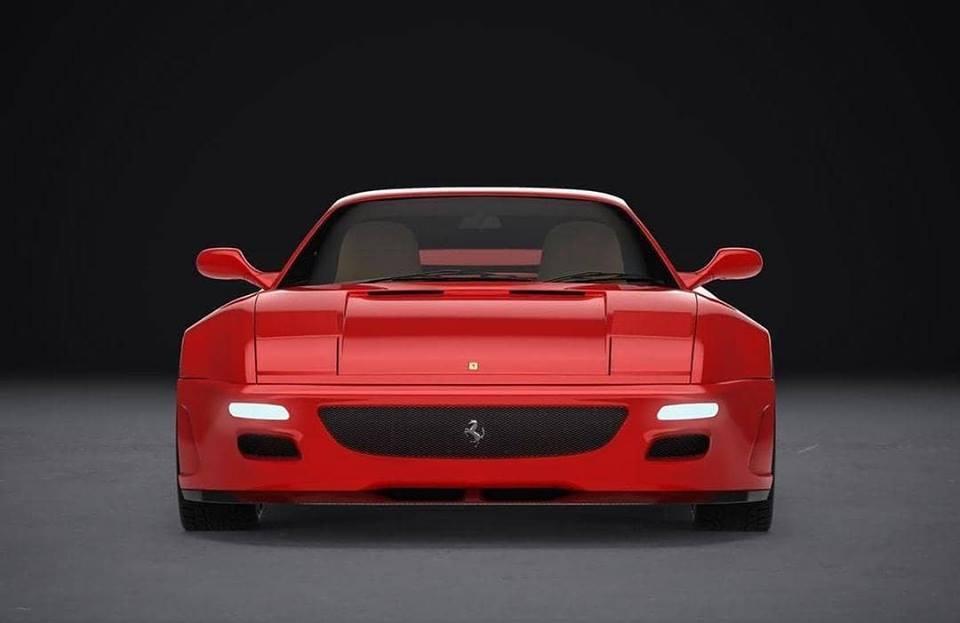 El Ferrari F355 recibe un nuevo traje de carbono modernizado y ensanchado