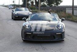 El nuevo Porsche 911 Speedster, cazado en unas pruebas sin techo