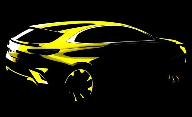 Boceto del Kia XCeed