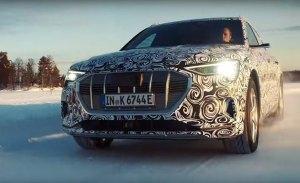 El nuevo Audi e-tron quattro Sportback muestra su capacidad sobre lagos helados en Finlandia
