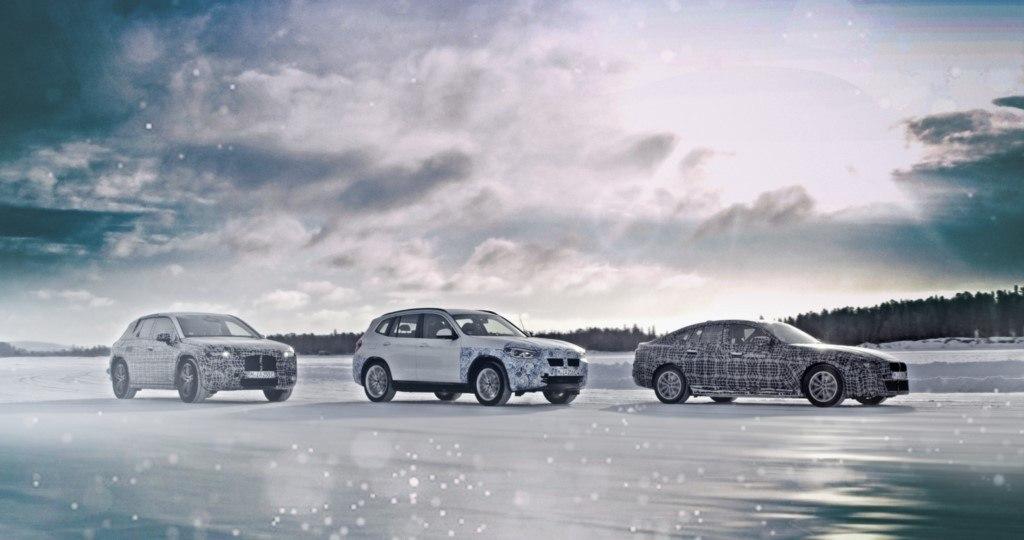BMW muestra las pruebas de invierno de los futuros eléctricos iNEXT, i4 y el iX3