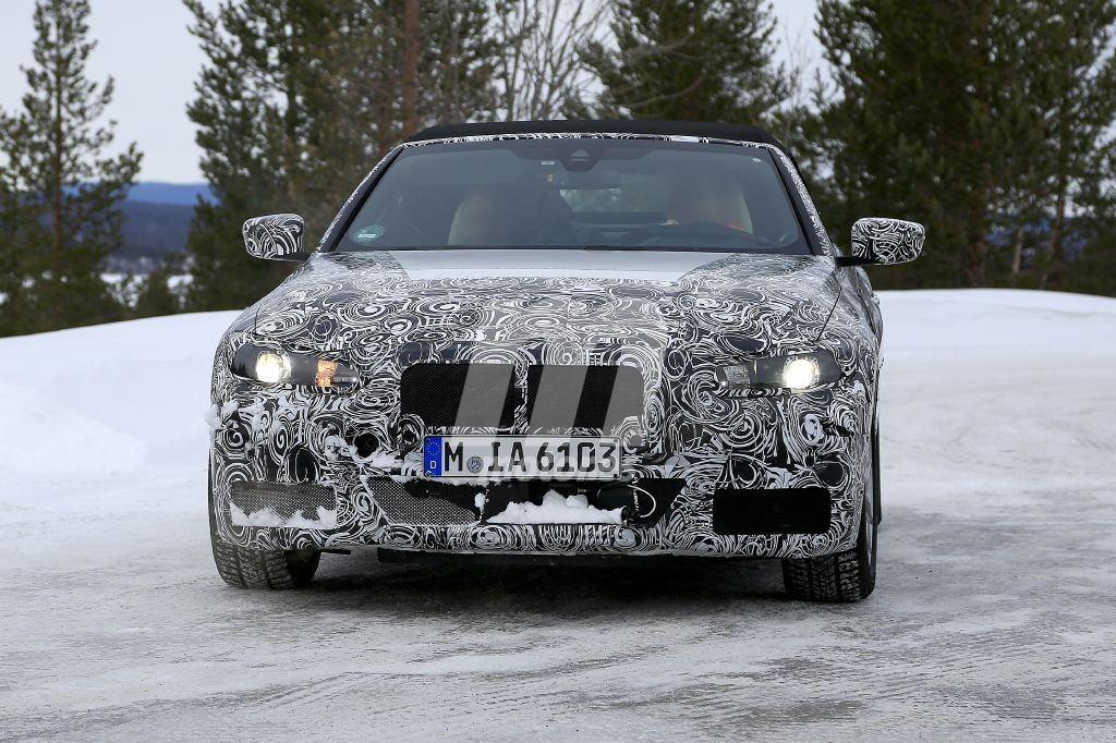 Los ensayos del nuevo BMW Serie 4 Cabrio continúan, esta vez en las pruebas de invierno