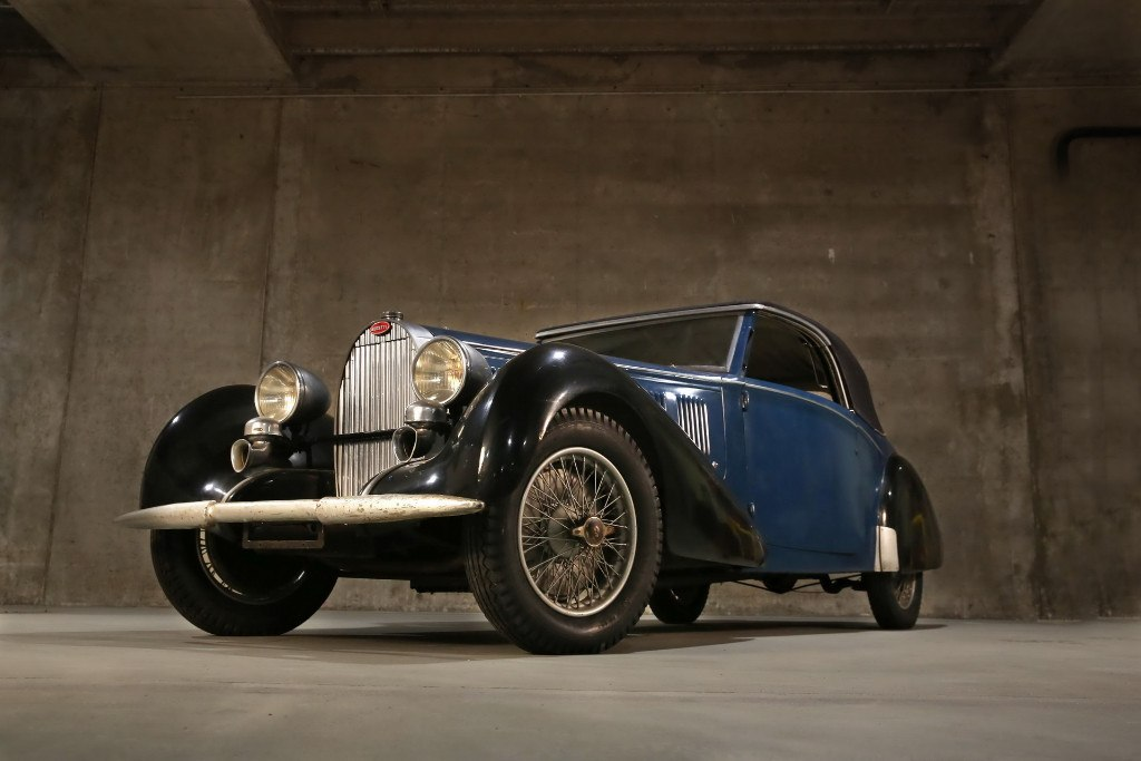 El escultor arruinado que guardaba tres Bugatti clásicos