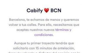 Cabify vuelve a Barcelona (con palos en las ruedas)