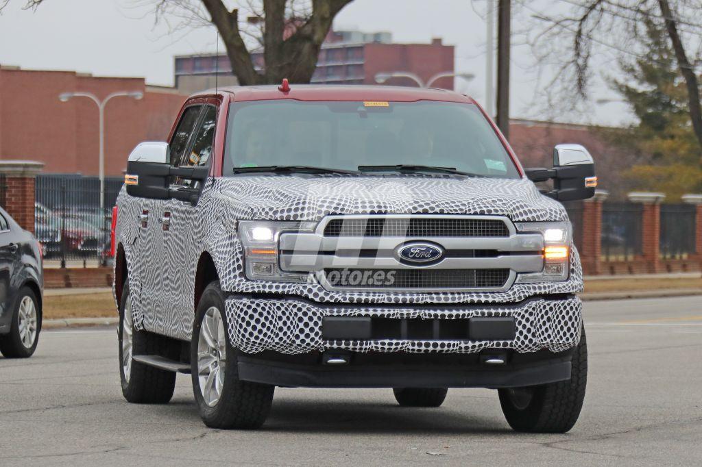 El nuevo Ford F-150 eléctrico cazado en movimiento