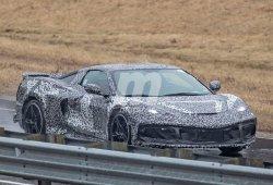 El Chevrolet Corvette C8 prueba su nuevo alerón en la pista de Milford