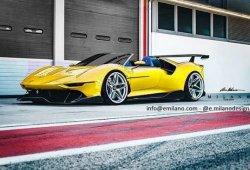 El nuevo Ferrari P80/C también luce espectacular con carrocería Spider