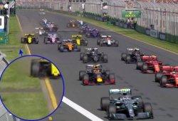 Ricciardo sigue gafado en casa, esta vez una zanja se cruzó en su camino