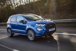 Reino Unido - Febrero 2019: El Ford Ecosport supera sus límites