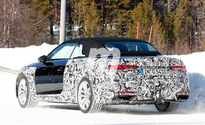 Audi A5 Cabrio 2020 - foto espía posterior