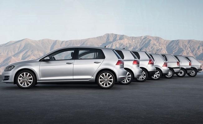 Todas las generaciones del Volkswagen Golf