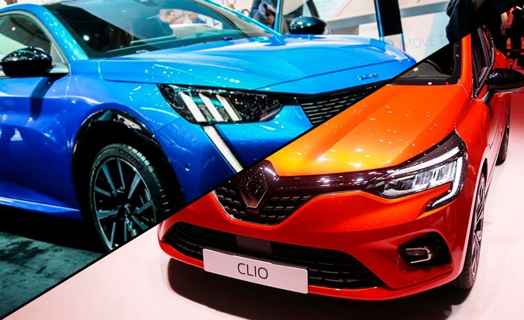Peugeot 208 vs Renault Clio, duelo de utilitarios franceses en Ginebra