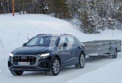 Nuevas fotos espía confirman la versión híbrida enchufable del Audi Q8 TFSI e