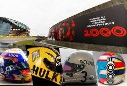 Las decoraciones especiales de equipos y pilotos para el GP 1000