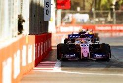 """Pérez, el mejor del resto tras pelear """"al límite"""" con los McLaren"""