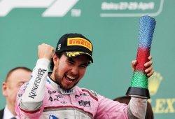 Sergio Pérez, único piloto que ha repetido en el podio de Bakú