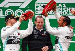 """Tercer doblete de Mercedes: """"Marcamos la diferencia, ¡y en la carrera 1000!"""""""