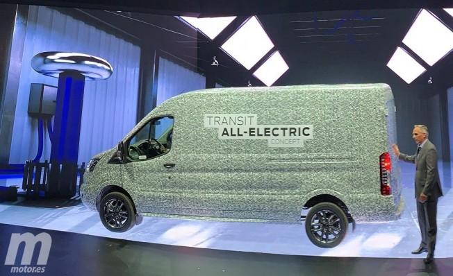 Prototipo de la versión eléctrica del Ford Transit