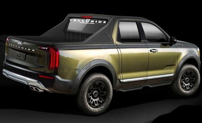 Recreación de un pick-up de Kia basado en el Telluride