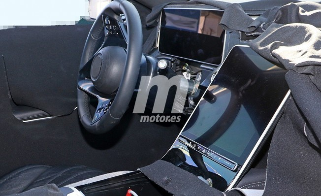 Mercedes Clase S 2020 - foto espía interior