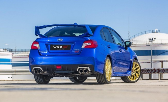Subaru WRX STI Final Edition 2019 - posterior