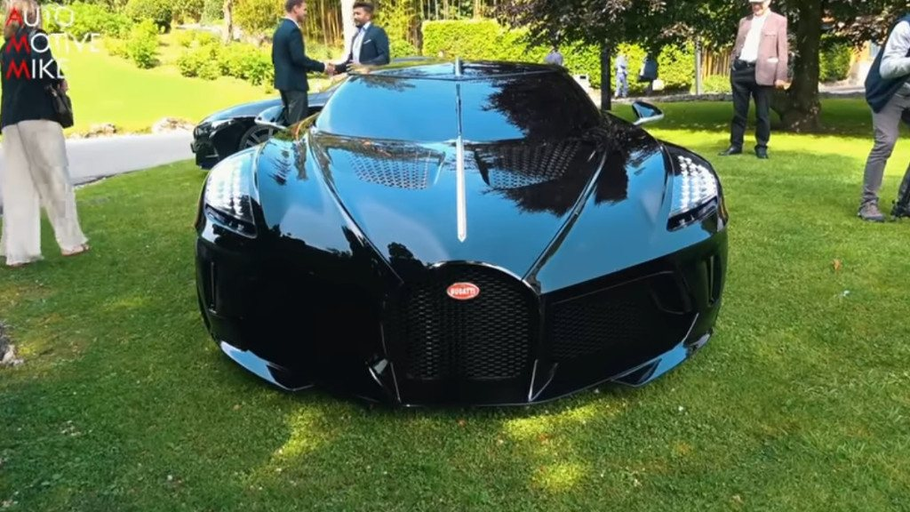 El único Bugatti La Voiture Noire presentado en Villa d'Este [vídeo]