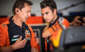 Dani Pedrosa ha vuelto a subirse a la MotoGP de KTM tras su lesión
