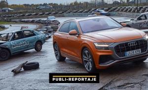 Desafíos Audi Q8: vídeo, así se comporta un Q8 en una batalla de supervivencia