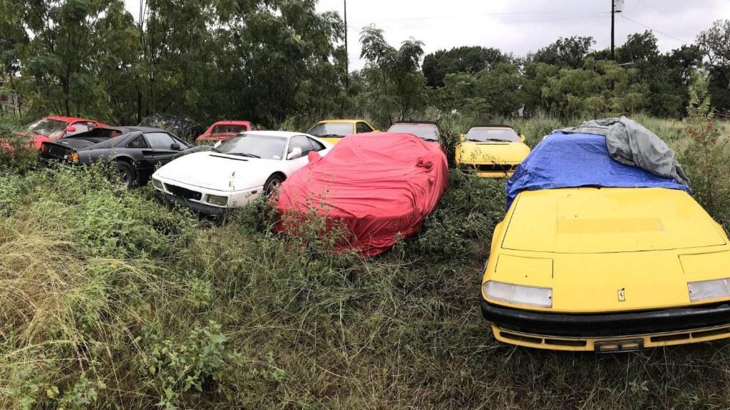 Increíble pero cierto: 11 Ferraris abandonados a su suerte en un solar