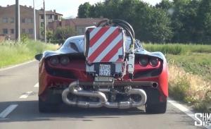 El nuevo Ferrari F8 Tributo cazado durante un test de emisiones