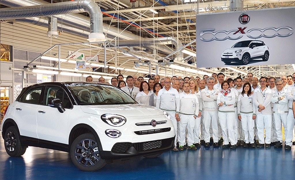 El Fiat 500X alcanza el medio millón de unidades fabricadas