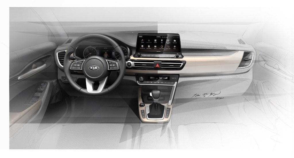 Kia revela el salpicadero de su futuro A-SUV con unos bocetos