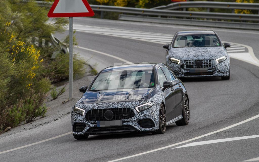 Los prototipos del nuevo Mercedes-AMG A 45 estrenan configuración aerodinámica
