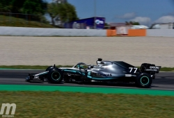 Bottas cierra los primeros test en Barcelona en lo más alto con un crono 'casi de pole'