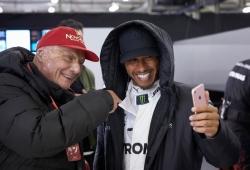 Hamilton, ausente en la conferencia de prensa oficial tras la muerte de Lauda