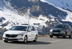 La nueva generación del Skoda Octavia Combi, cazada en los Alpes perdiendo camuflaje
