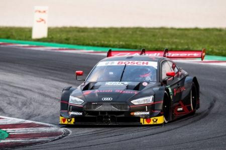 Test de Andrea Dovizioso con el Audi RS 5 DTM en Misano
