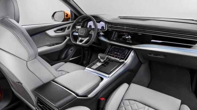 Así luce el interior del nuevo Audi Q8, un SUV cargado de tecnología.