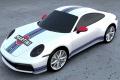 El Porsche 911 ya cuenta con los colores Martini Racing gracias a Second Skin