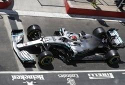 Mercedes desvela la causa de la fuga hidráulica en el W10 de Hamilton