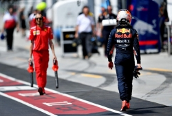 """Verstappen cae en Q2 tras pecar de optimista con el neumático medio: """"Fue mala suerte"""""""