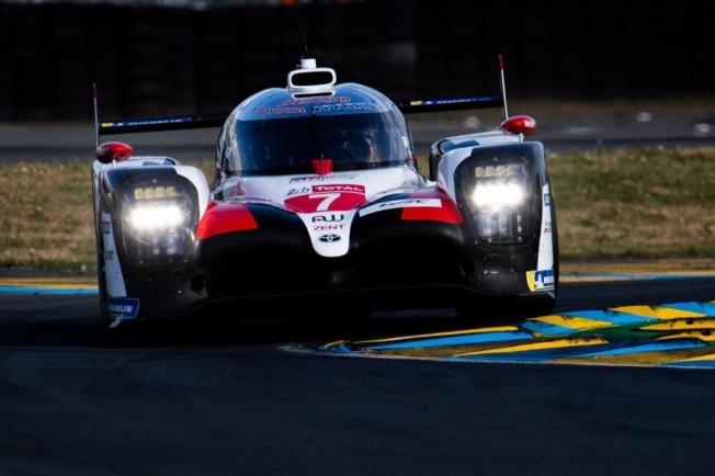 El Toyota #7 también lidera el warm up de Le Mans
