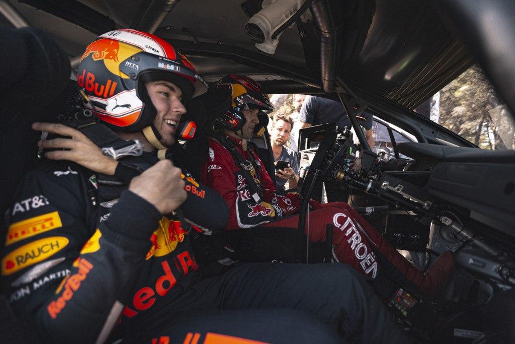 Pierre Gasly, copiloto por un día de Sébastien Ogier
