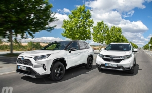 Comparativa Honda CR-V Hybrid vs Toyota RAV4 Hybrid, separados al nacer (con vídeo)