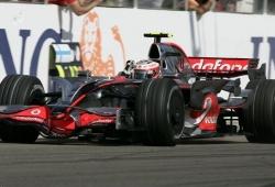 Kovalainen feliz con la segunda posición en la largada