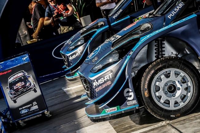 Hayden Paddon, con un Ford Fiesta WRC de M-Sport en el Rally de Finlandia