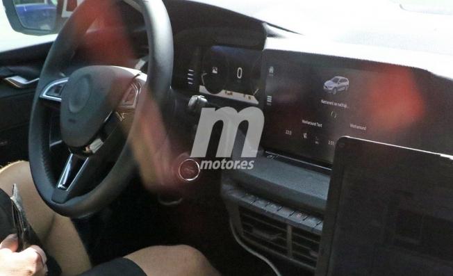 Skoda Octavia 2020 - foto espía interior
