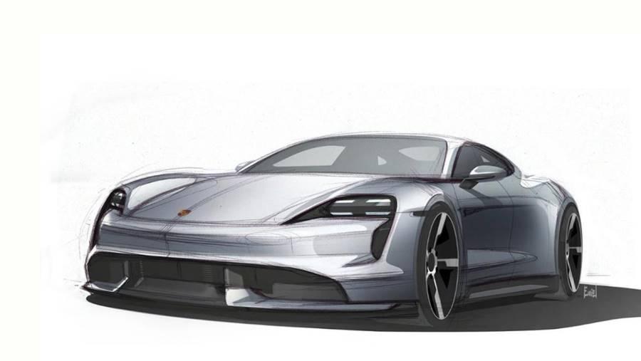 Porsche muestra los primeros bocetos del Taycan y sus claves de diseño