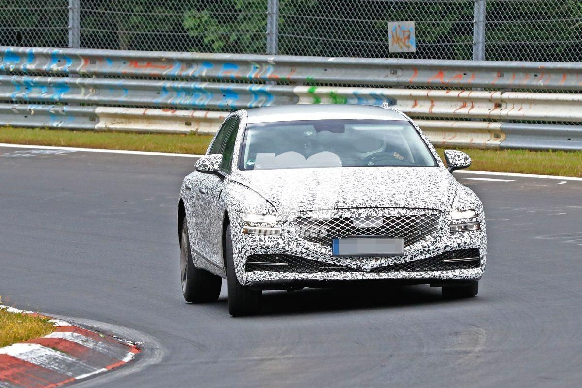 La nueva generación del Genesis G80 2020 continúa sus pruebas en Nürburgring